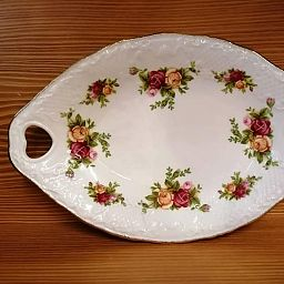 Victorian Handled Tray -Vassoio OLD COUNTRY ROSES