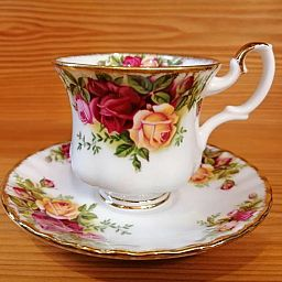 Tazza Coffee con piattino OLD COUNTRY ROSES
